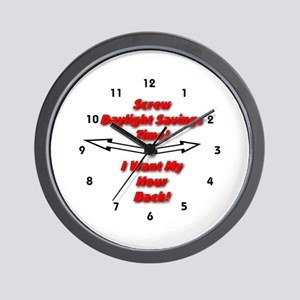 Screw Daylight Savings Time! Wall Clock