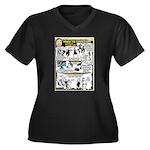 Woz Pranks Women's Plus Size V-Neck Dark T-Shirt