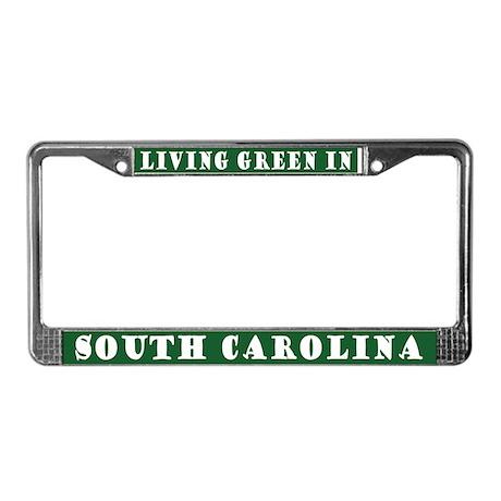 Living Green In South Carolina License Frame