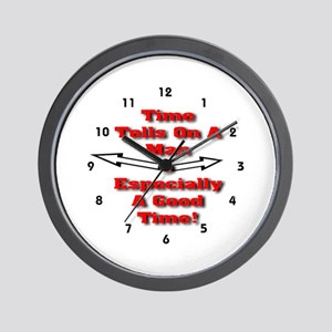 Time Tells On A Man Wall Clock