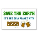 Save The Beer Sticker (Rectangle 10 pk)
