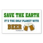 Save The Beer Sticker (Rectangle)
