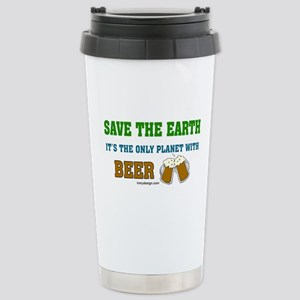 Save The Beer Stainless Steel Travel Mug