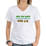 Save The Beer Women's V-Neck T-Shirt