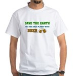 Save The Beer White T-Shirt