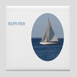 Oval Cape Cod Sail Tile Coaster