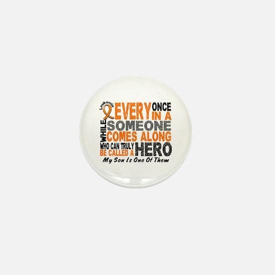 HERO Comes Along 1 Son LEUKEMIA Mini Button