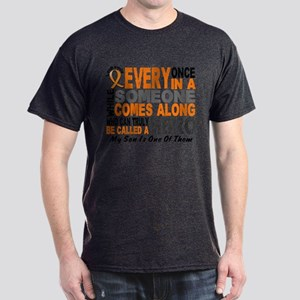 HERO Comes Along 1 Son LEUKEMIA Dark T-Shirt