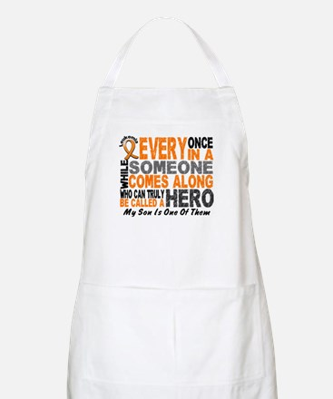 HERO Comes Along 1 Son LEUKEMIA BBQ Apron