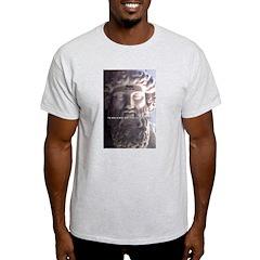 Plato: Humour Beer Wisdom Ash Grey T-Shirt