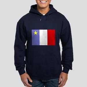 Acadian Flag Hoodie (dark)