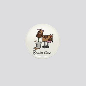 Brown Cow Mini Button