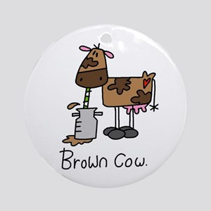 Brown Cow Ornament (Round)