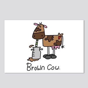 Brown Cow Postcards (Package of 8)