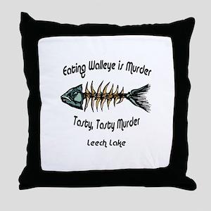Eating Walleye is Murder Throw Pillow