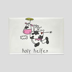 Holy Heifer Rectangle Magnet