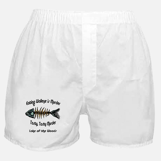 Eating Walleye is Murder Boxer Shorts