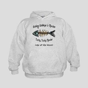 Eating Walleye is Murder Kids Hoodie