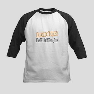 """""""Levodopa...Breakfast"""" Kids Baseball Jersey"""