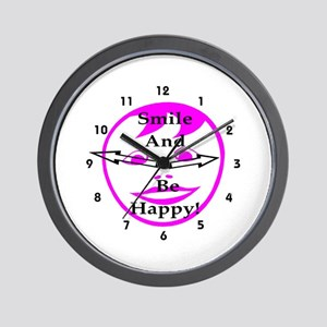 Smile and Be Happy! Wall Clock