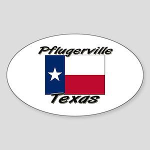Pflugerville Texas Oval Sticker
