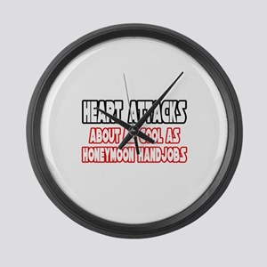 """""""Heart Attacks Are Not Cool"""" Large Wall Clock"""