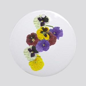 Pansies Ornament (Round)