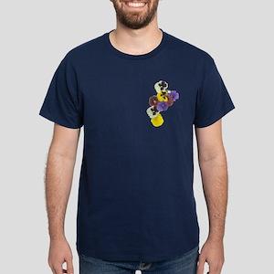 Pansies Dark T-Shirt