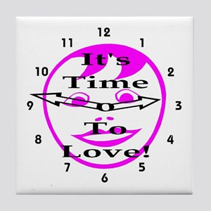 It's Time To Love! Tile Coaster
