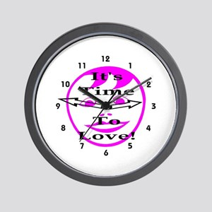 It's Time To Love! Wall Clock