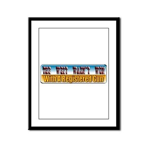 The West Wasn't Won Framed Panel Print