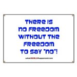 No Freedom Banner