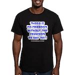 No Freedom Men's Fitted T-Shirt (dark)
