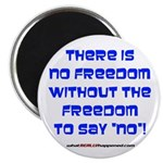 """NO FREEDOM 2.25"""" Magnet (100 pack)"""