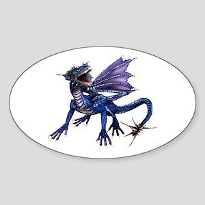 Blue Dragon Oval Sticker