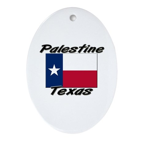 Palestine Texas Oval Ornament