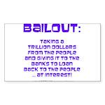 BAILOUT Rectangle Sticker 50 pk)