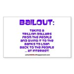 BAILOUT Rectangle Sticker