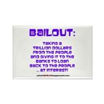 BAILOUT Rectangle Magnet (100 pack)
