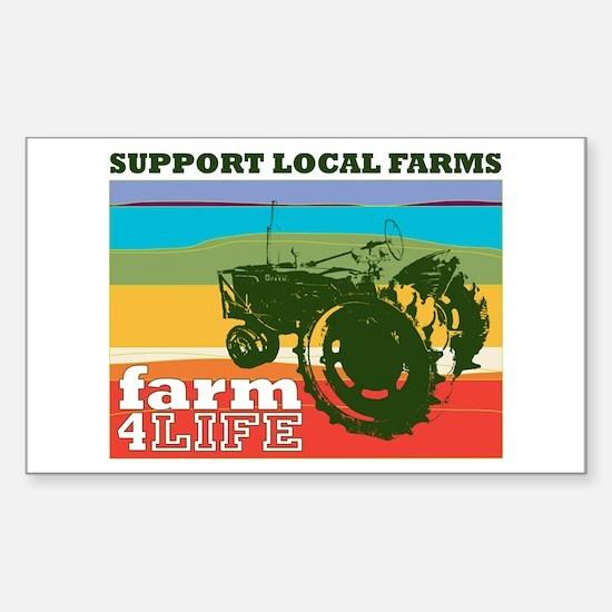 farm 4 life Rectangle Decal
