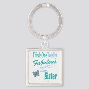 Fabulous Little Sisters Square Keychain