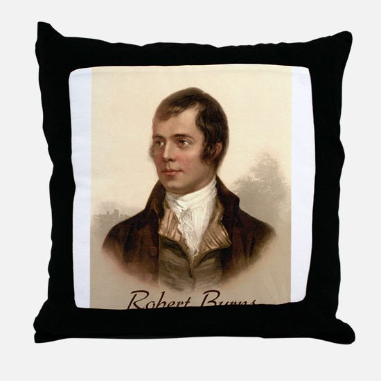 Robert Burns Portrait Throw Pillow