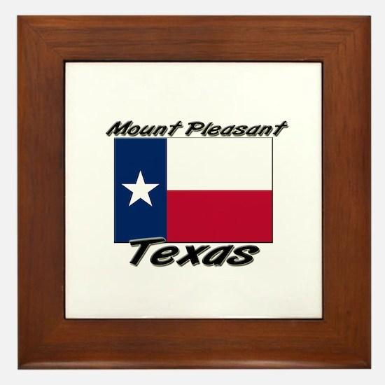 Mount Pleasant Texas Framed Tile