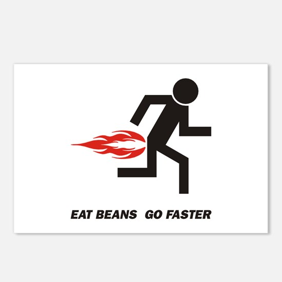 Eat Beans Postcards (Package of 8)