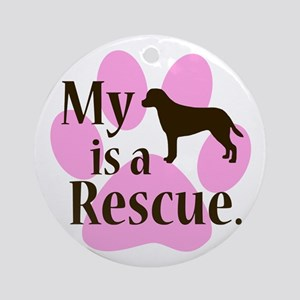 My Dog is a Rescue Ornament (Round)