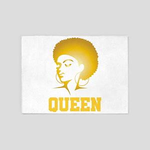 African Design Queen Afro Locs Birt 5'x7'Area Rug