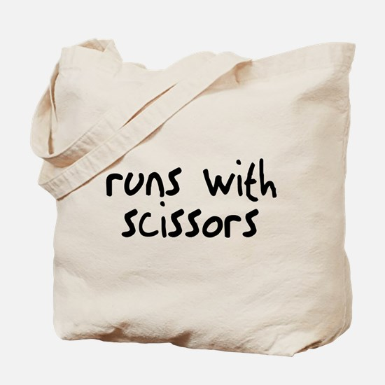 Runs Scissors Tote Bag