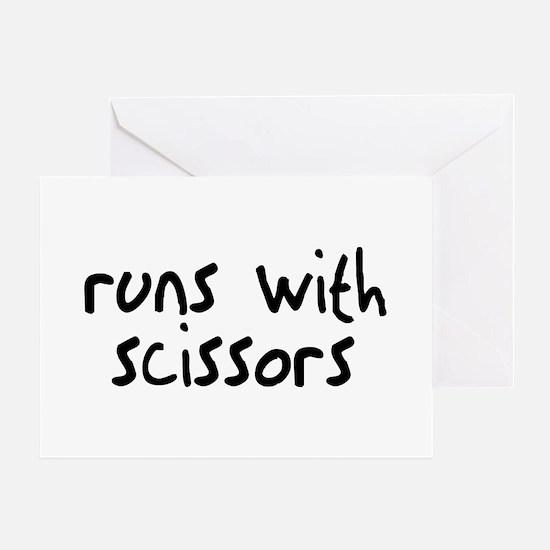 Runs Scissors Greeting Card