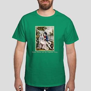 Robert Burns & Highland Mary Dark T-Shirt