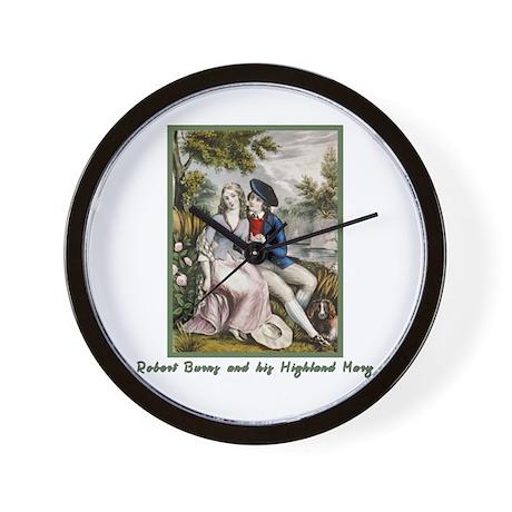Robert Burns & Highland Mary Wall Clock